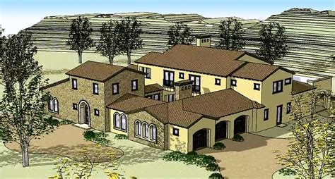 tuscan home with two courtyards 16377md architectural