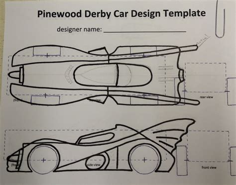 pinewood derby template car kurt s