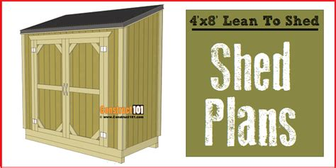 4 X 8 Garden Shed Plans by Lean To Shed Plans 4x8 Step By Step Plans Construct101