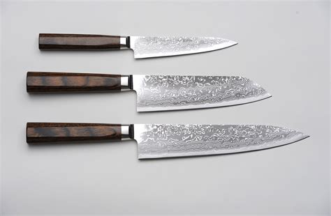japanese kitchen knives r4 damascus 3 set paring knife santoku knife and