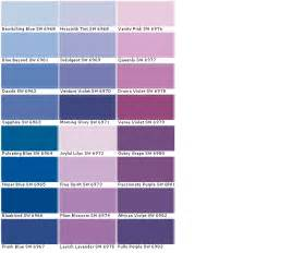 Downy Sherwin Williams lavender paint colors chart colors paint chart