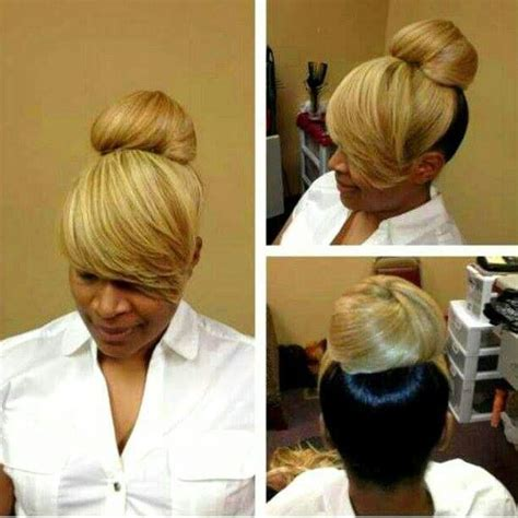 Black Hairstyles With Bangs And Buns by Black Hair Ponytail With China