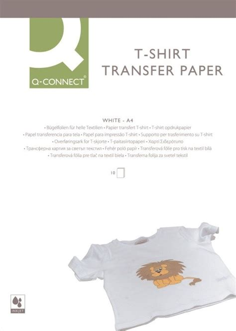 How To Make T Shirt Transfer Paper - q connect t shirt transfer paper pk10 ebuyer