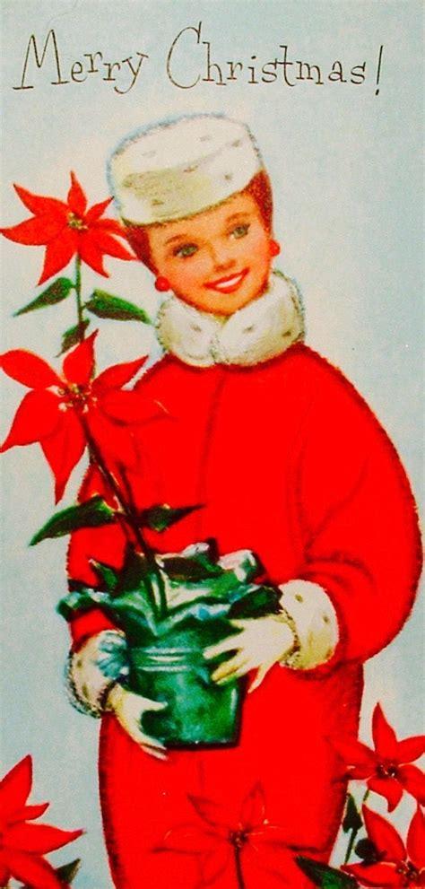 christmas glamour vintage christmas card retro christmas card pillbox hat poinse vintage