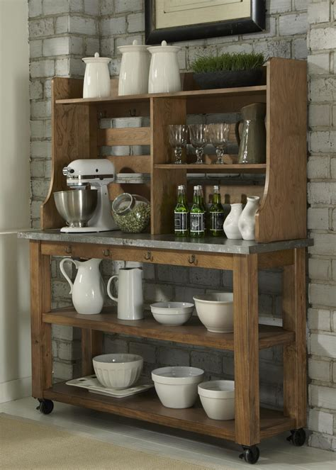 wooden furniture for kitchen antique wooden bakers rack homesfeed