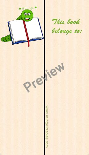 printable bookworm bookmarks free printable bookworm bookmark