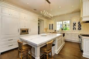 White Marble Kitchen Island A New House Inspired By Classic David Adler Country Homes