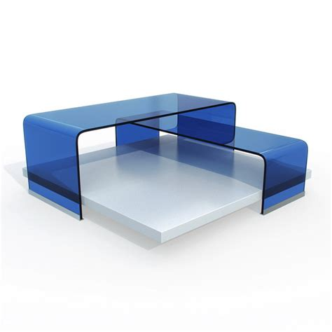 modern blue glass coffee table 3d model 3dsmax files