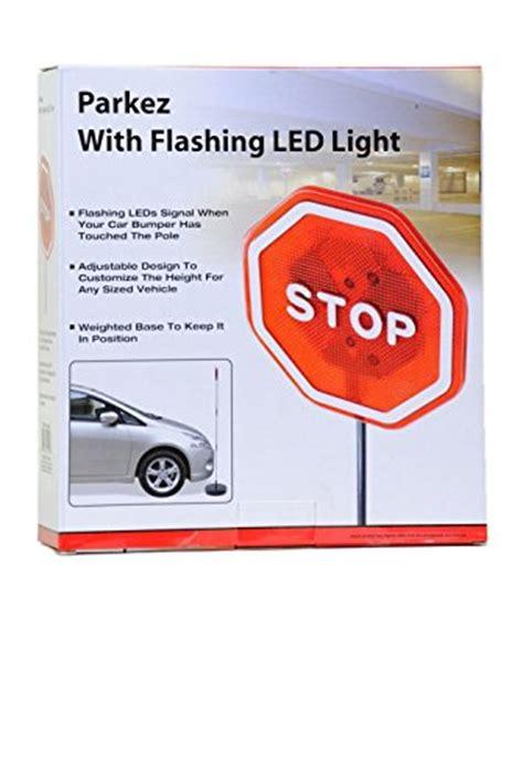parkez led light parking stop sign for garage