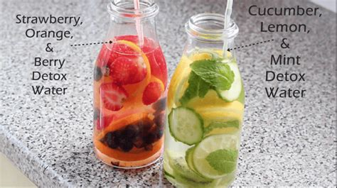 Detox Water Lemon Cucumber And Strawberry by Fruit Infused Water For Skin