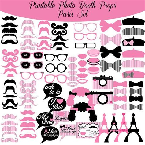 free printable paris themed photo booth props 172 best images about wedding favors ideas on pinterest
