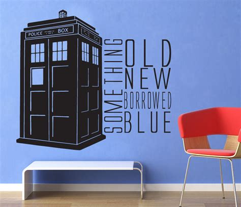 dr who wall stickers dr who something blue tardis wall decal by geekerymade on deviantart