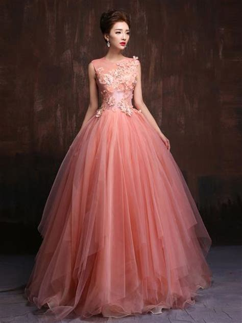 Carset 3 In Hug Flower Dress Hotpink whimsical modest blush pink tale quinceanera