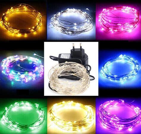 Aliexpress Com Buy Led String Light 10m 100leds Silver 12v String Lights