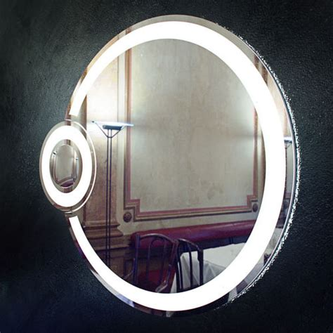round bathroom mirror with lights round bathroom mirror with light eclipse free 3d model