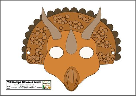 printable dinosaur masks for prehistoric play