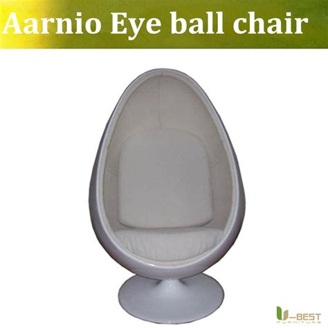 Eye Sessel by U Best Oval Eye Chair With Cushion And White