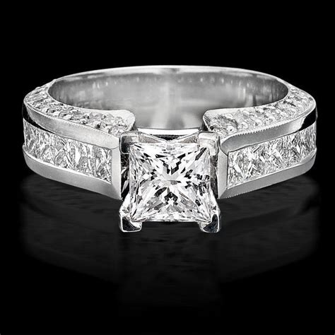 selling tiffany style princess diamond engagement