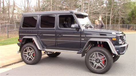 mercedes truck 4x4 the mercedes g550 4x4 squared is a 250 000 german