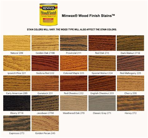 minwax stain color chart best 25 wood stain color chart ideas on wood