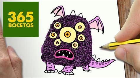 imagenes de monstruos faciles para dibujar como dibujar monstruo kawaii paso a paso dibujos kawaii