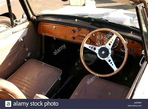 Vintage Cer Interior by 1960 Triumph Herald Convertable Interior Classic Car On