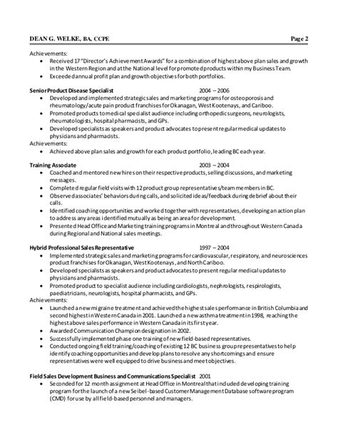 sle of achievements in resume dean welke resume nov 2014