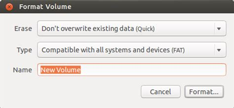format exfat gparted how to format a usb flash drive ask ubuntu