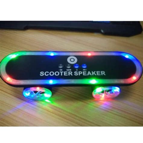 Bluetooth Speaker Mini Led Speaker Lu Warna Speaker Aktif Mini skateboard led light bluetooth speaker black jakartanotebook