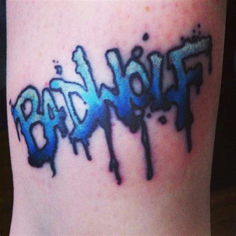 bad wolf tattoo doctor who bad wolf www imgkid the image
