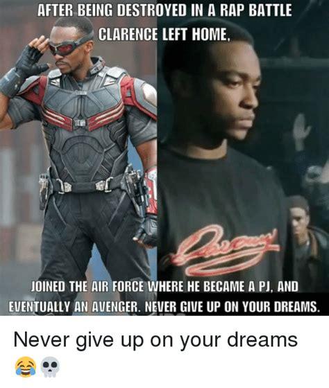 Rap Battle Meme - after being destroyed in a rap battle clarence left home