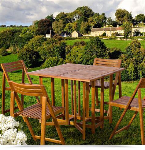 tavoli pieghevoli da interno set legno acacia salvaspazio chiudibile foldies set5