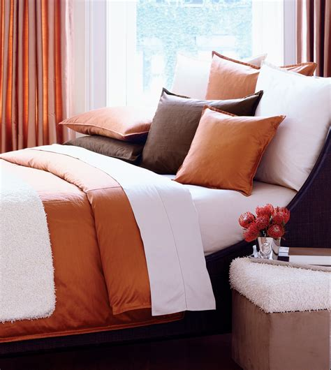rust bed luxury bedding by eastern accents serico rust duvet