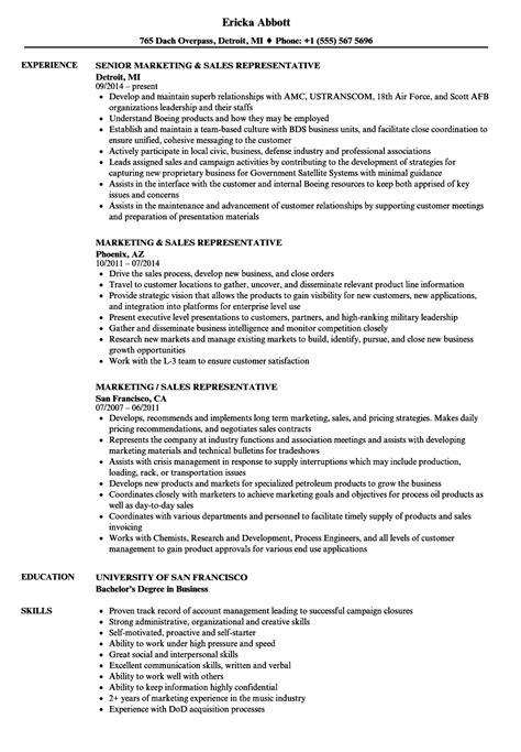 sales rep resume sles velvet 59 images enterprise