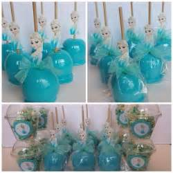 Blue chocolate apples elsa themed frozen themed apples frozen party