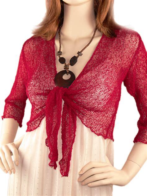 womens clothing tops short knit shrug