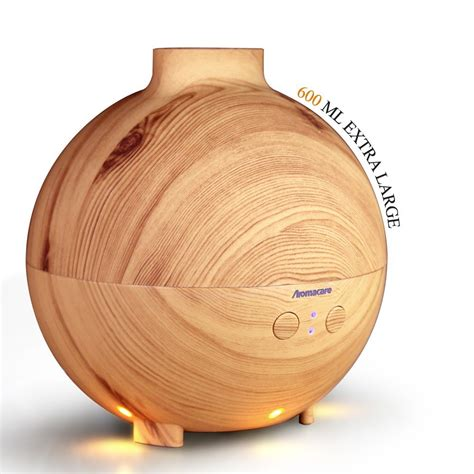 Aroma Therapy Air Humidifier Wood Flower aromacare 600ml essential diffuser aroma diffuser ultrasonic humidifier mist maker