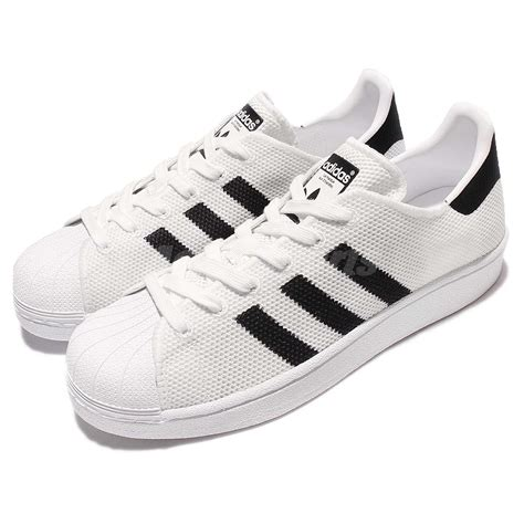 adidas originals superstar knit white black classic shoes sneakers bb2236 ebay