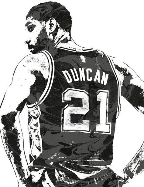 tim duncan tattoo tim duncan san antonio spurs pixel 2 print by joe