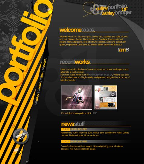 Resume Sample First Job by Portfolio Design V1 By Ashbridger On Deviantart