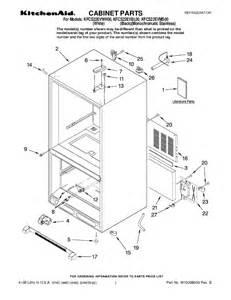 Kitchenaid Refrigerator Parts Maker Kitchenaid Refrigerator Kfcs22evms00 User S Guide