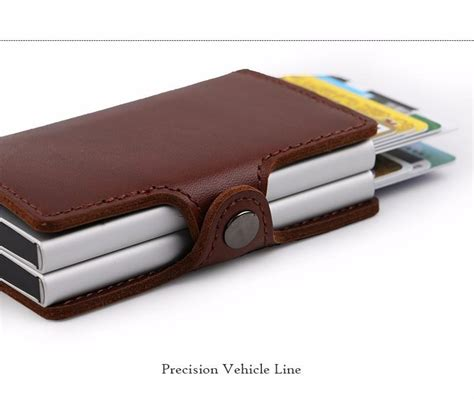 Card Holder 12 Slot Free Box genuine leather credit card holder with 12 slots capacity business card holder aluminum two in