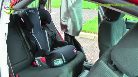 x comfort graco logico l x comfort booster car seat fitting guide