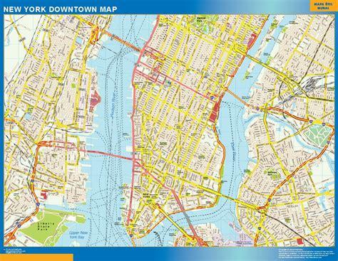 mapa nyc d 243 nde comprar mapa new york tienda mapas murales en espa 241 a