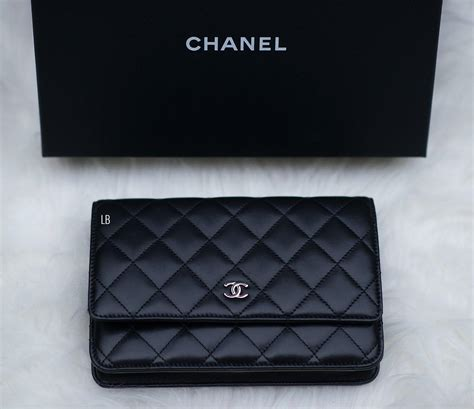 Harga Chanel Boy Wallet On Chain my new chanel wallet on chain woc bag in black
