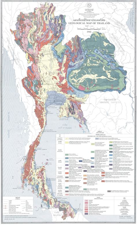 map of thailand geological map of thailand map of thailand