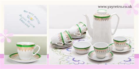 Yay By Raisa Green Tea Coffee alfred meakin classic glo white coffee set vintage shop