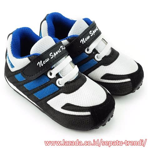 Sepatu Sport Laki sepatu baru anak anak tali sepatu daftar harga terkini