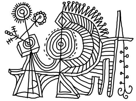 printable modern art coloring pages desenho de arte abstrato para colorir tudodesenhos