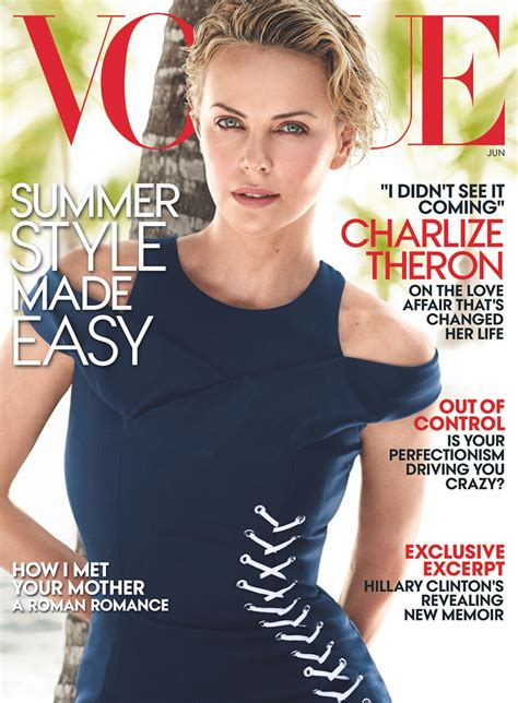 Charlize Theron Vogue by Charlize Theron In Vogue Magazine June 2014 Issue